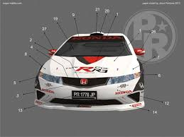 honda civic type r r3 paper model