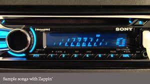 sony cdx gt565up cd receiver display and controls demo
