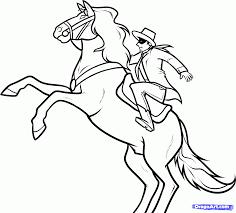 george washington on a horse drawing