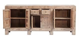 natural color vintage sideboard credenza media cabinet with