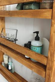 Free Wooden Shelf Plans by Apothecary Wall Shelf Free Diy Plans Rogue Engineer