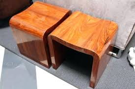Wooden Ottomans Footstool Wooden Pair Of Wooden Footstools Side Tables 2 Wooden
