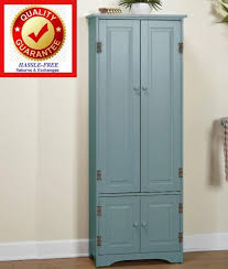 Tall Kitchen Cabinet Pantry Extra Tall Kitchen Cabinet Pantry Storage Cupboard Antique Blue
