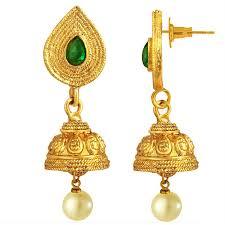 kempu earrings buy spargz antique flower gold plated kempu necklace