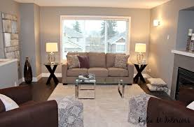 home staging ideas for living room with brown purple and gray