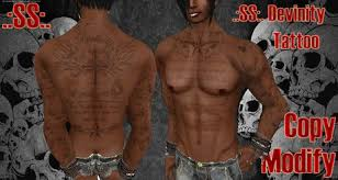 second life marketplace ss divinity tattoo unisex