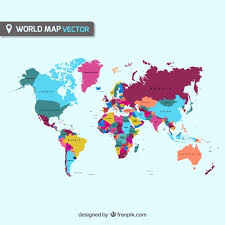 free map colorful world map vector free