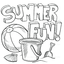 summer coloring pages to print pdf theme archives summertime for