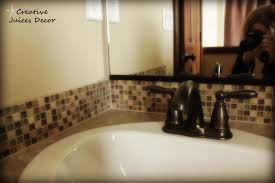 Bathroom Sink Backsplash Ideas Bathroom Enchanting Mirrored Tile Backsplash For Modern Home