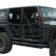 jeep jku half doors 07 16 jeep wrangler jk 4dr tubular safari doors w mirror