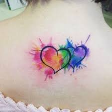 fall in love with these cute watercolour heart tattoos tattoodo