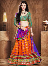 Earthy Orange Earthy Orange Net Lehenga Choli