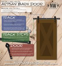Install Sliding Barn Door by Installing Your Sliding Barn Door Artisan Hardware