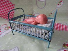 Miniature Crib Bedding Vintage 1 12 Dollhouse Miniature White Enamel On Metal Crib W