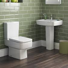 bliss 4 piece bathroom suite cc toilet u0026 1th basin with pedestal