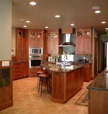 cabinets for craftsman style kitchen craftsman style kitchen with cherry cabinets traditional