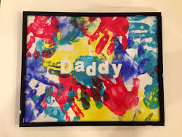 homemade father u0027s day present from toddler apply self adhesive
