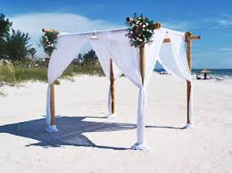wedding arches bamboo starfish runway with bamboo arch gulf coast wedding events rentals