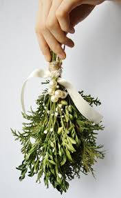 Mistletoe Decoration Mistletoe Kissing Ball Christmas Decor Winter Wedding Decor