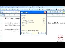 How To Count Number Of Words In Word Document How To Do A Word Count In Word 2003