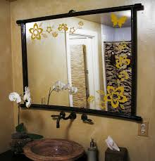 Mirror Stickers Bathroom Large Wall Floral Blossom Nursery Mirror Ornament Butterfly Decal