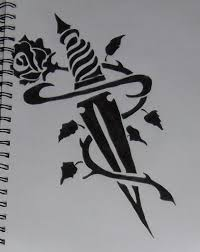 tribal knife and rose by happyaly15 on deviantart tribal heart