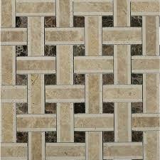splashback tile yarn woven wood polished marble tile 3 in x 6