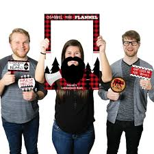 party photo booth lumberjack channel the flannel personalized buffalo plaid