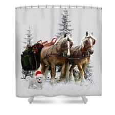 draft horse shower curtains fine art america