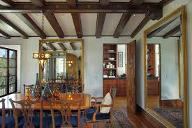 1936 spanish colonial revival dining room into kitchen notice the