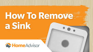 how to remove a sink kitchen u0026 bathroom sink removal
