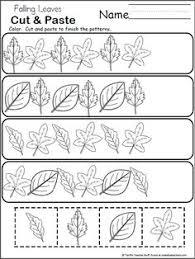 thanksgiving pattern worksheet cut and paste teaching