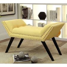 Marilyn Monroe Furniture by Furniture Of America Odessa Accent Bench Walmart Com