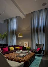 Curtains High Ceiling Decorating How To Decorate A Living Room With High Ceilings