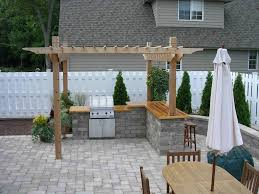 delighful outdoor kitchens pergola small kitchen inside decor