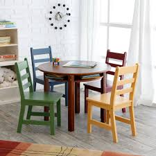 lipper childrens table and chair set lipper childrens walnut round table and 4 chairs find out more
