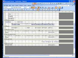 microsoft access 2003 sales invoice 3 report youtube