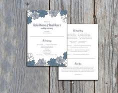 flat wedding programs bold blue feathers design flat wedding program marriage ceremony
