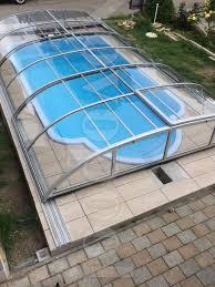 balkon abdeckung swimming pool überdachung schwimmbecken abdeckung in berlin