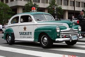 1951 ford crestliner tudor police car vintage police