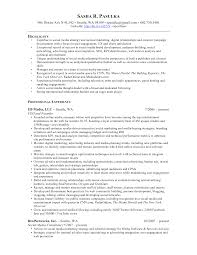 social media resume sle social media resumes 3dienas tk