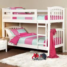 White Wooden Bunk Bed Cool Cream Combined Orange Wooden Bunk Bed With Storages Wall