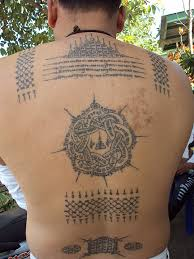 Tattoos In - sak yant temple tattoos back in progress ajarn chanai
