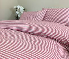 red and white striped duvet cover natural linen custom size