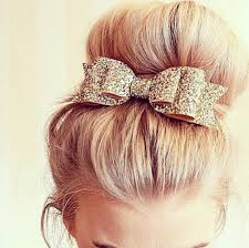 prom hair accessories hair accessory bows gold sparkle hair bow prom beauty
