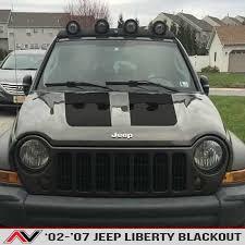 black 2005 jeep liberty jeep liberty kj blackout 02 07 alphavinyl