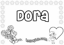 dora coloring pages drawing kids videos kids reading