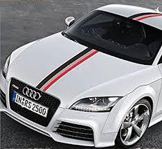 audi decals amazon com 50 audi sports racing stripe vinyl car stickers