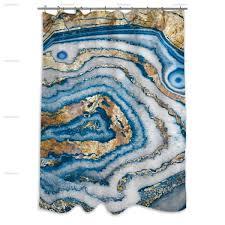 Cassandra Shower Curtain by Bleu Agate Shower Curtain U2014 Oliver Gal