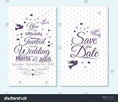 Wedding Invitations And Thank You Cards Wedding Invitation Thank You Card Save Stock Vector 319593395